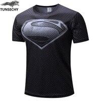 NEW 2016 Marvel Captain America 2 Super Hero Lycra Compression Tights Sport T Shirt Men Fitness