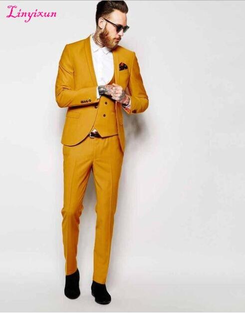 bd7c3e81d492 Linyixun Classic Design Mens Dinner Party Prom Suits Groom Tuxedos  Groomsmen Wedding Blazer Suits (Jacket