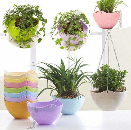 unid colores percha caliente planta decoracin de macetas de jardn jardineras de resina redonda