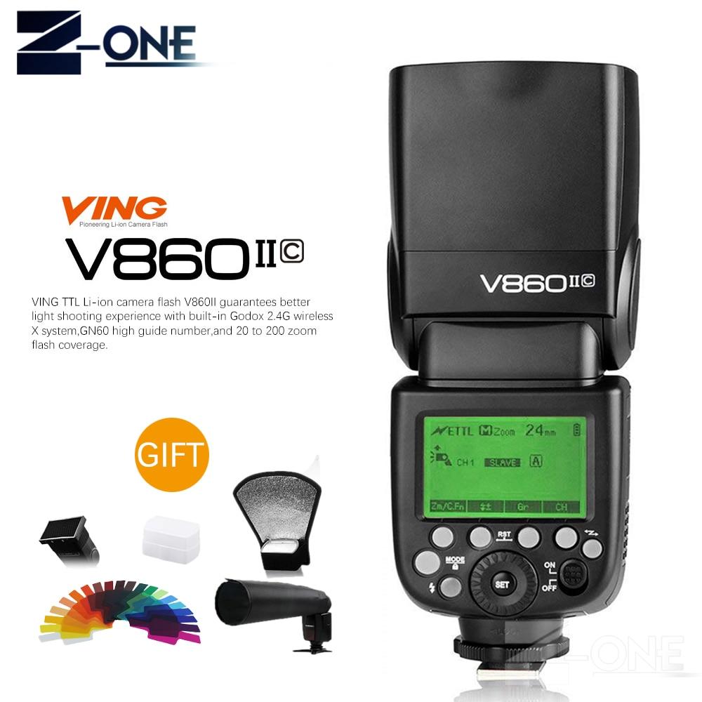 купить Godox Ving V860II V860II-C/N/S/F/O E-TTL HSS 1/8000 Speedlite Flash for Canon Nikon Sony DSLR Camera Without VB-18 Battery по цене 11053.04 рублей
