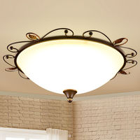 LED Ceiling Lights Round With LED Bulbs Iron Lustre Lamps For Home Decor Restaurant Bedroom Cafe