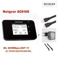 Лот 100 шт. разблокирована NETGEAR AirCard ac810s 4 г LTE cat11 Wi Fi мобильной точки доступа маршрутизатора плюс антенна, DHL доставки