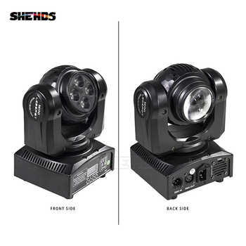 2pcs/lot LED Beam Wash Double Sides 4 x10W+1x10W RGBW 4in1 Moving Head Stage Lighting DMX LED Stage Pattern Lamp Rotating DJ - DISCOUNT ITEM  6% OFF All Category