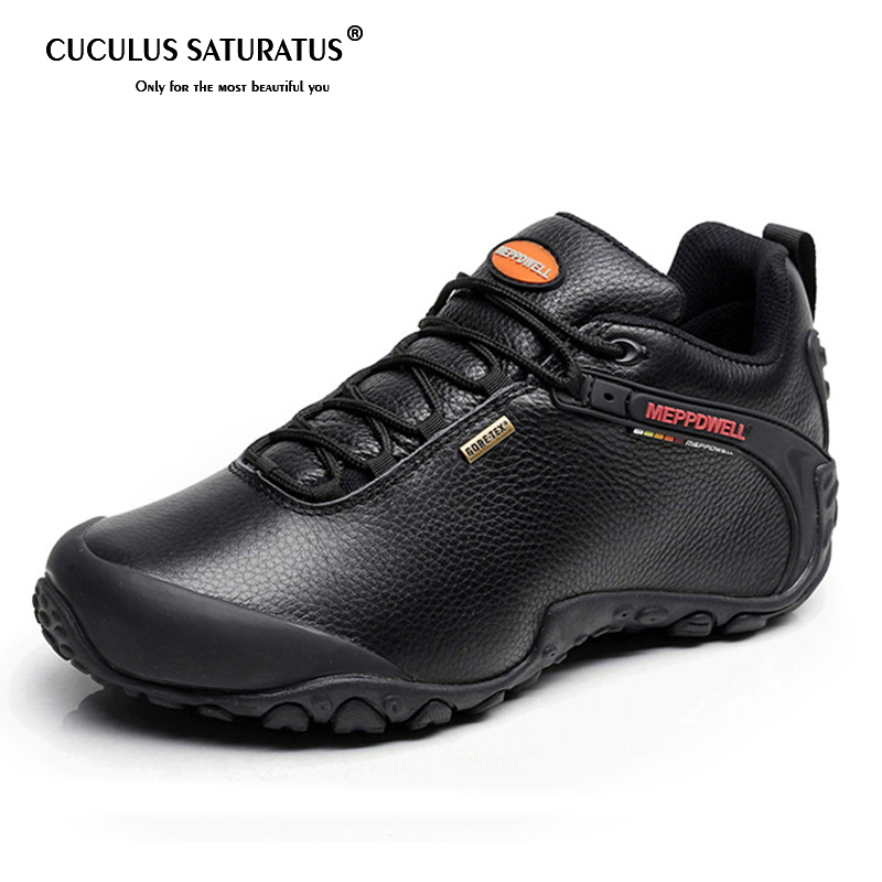 High Quality Unisex Hiking Shoes Autumn Winter genuine leather Outdoor Mens women Sport Trekking Mountain Athletic Shoes 224-5 цена 2017