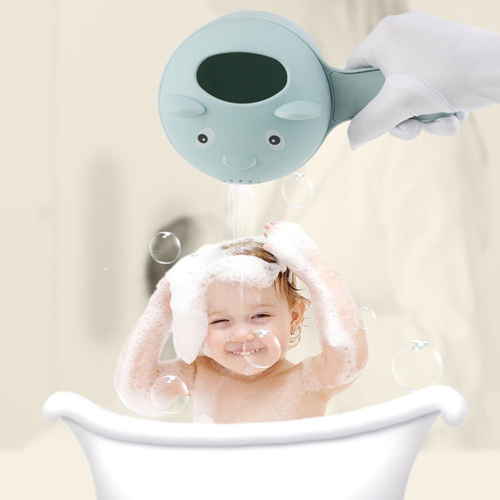 Baby Shampoo Cup Baby Bath Water Ladle Sprinkler Water Ladle Hand Washing Water Deflector Baby Bath Helper