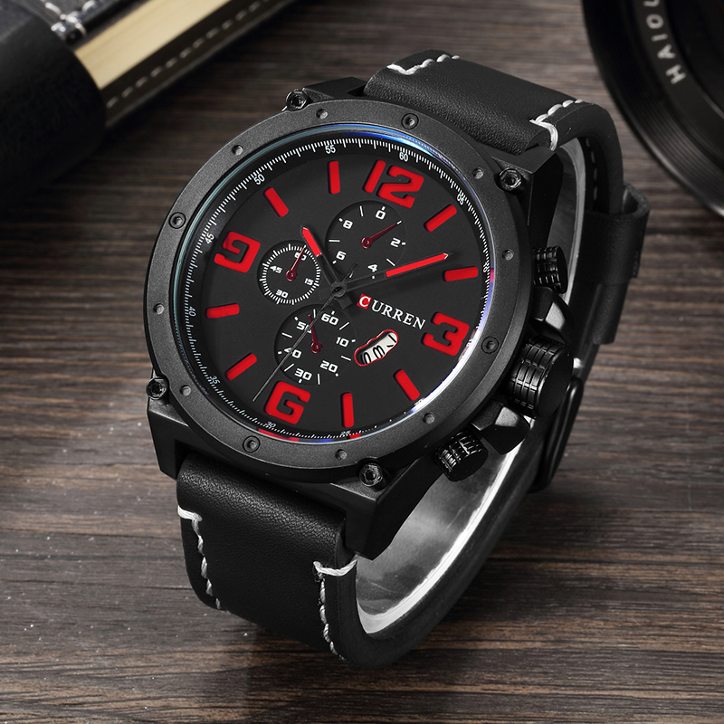 New Fashion Top Luxury Brand CURREN Sports Watches Men Quartz Ultra Thin dial Clock Sports Military Watch Relogio masculino fashion watch top brand oktime luxury watches men stainless steel strap quartz watch ultra thin dial clock man relogio masculino
