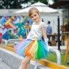 Girl Candy Tutu Dress Kids Pageant Party Formal Wedding Bridesmaid Princess Tutu Dress Rainbow Christmas Carnival