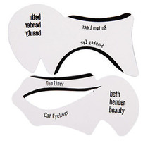 2 unids/set Nuevo Modelo de Kit de Sombra de Ojos Delineador de ojos Para inferior Tarjeta Delineador delineador de ojos maquillaje herramienta Auxiliar de la Ceja