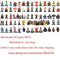 New 8pcs Lot Marvel Movie The Avengers Super Hero Minifigures Building Blocks Sets Figures Toys Superman