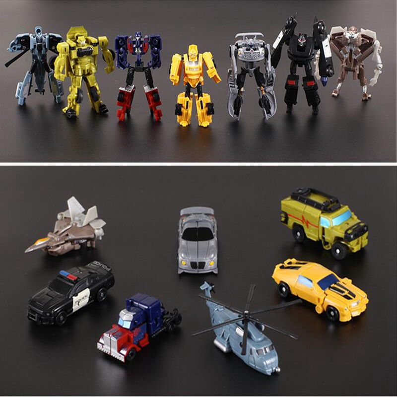 Robot Toy Transformation Gift Kids Mini Into PVC 7-Style Classic Holiday Turned