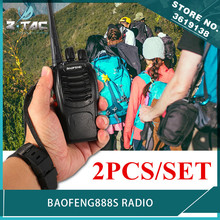 2PCS Baofeng BF-888S Walkie Airsoft Talkie 16CH FM UHF 400-470MHz 2-way Radio Comunicador Transmitter Transceiver