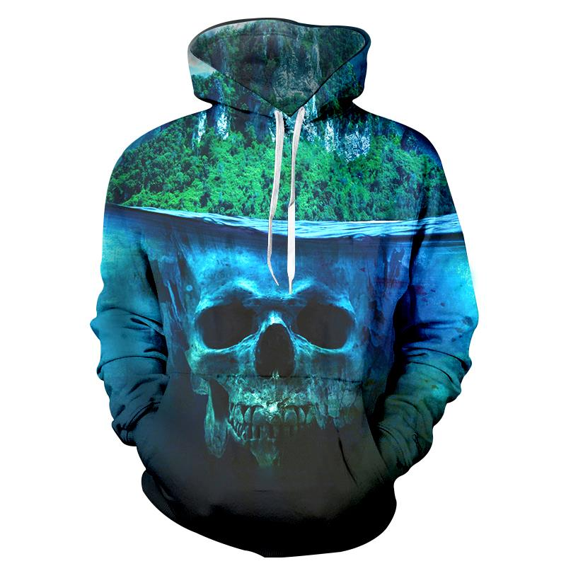 Cloudstyle Belief Skull Hoodie Mens Brand Hoddy Casual Style Pullover Long Sleeve Tracksuits New Design Outwear 3D Jacket Plus
