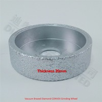 75mmx20MM Diamond Edge Grinding Discs Vacuum Brazed Diamond Grinding Wheel Profile Wheel