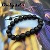 Onlysda Men's Obsidian Slimming & Bracelet Crystal Bracelet Chakra Preparing Bead Bracelet Gift free shipping OSL053