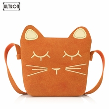 ULTRON Children Mini Cartoon cat Shoulder Bag Crossbody Bags For Girls Animal Pattern PU Handbag Women Fashion Messenger