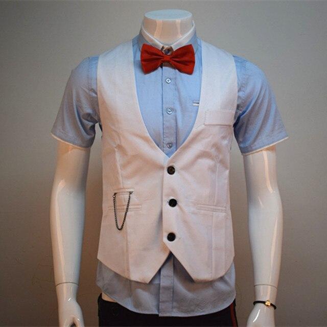 2016 spring and autumn new men's fashion business gentleman Korean Slim comfortable solid color XL suit vest