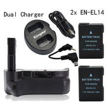 MeiKe Vertical batterie Grip pour Nikon D5200 + 2 * EN-EL14 + Double Chargeur