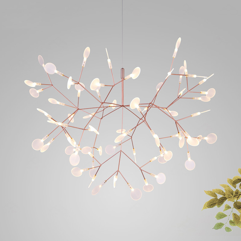 Post modern stylish tree branch leaf LED pendant light lamp firefly ceiling LED hanging lamp light