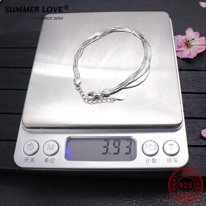 2018 New Simple Multilayer Tassel Snake chain Bracelet Genuine 100 925 Sterling Silver jewelry for women 2018 New Simple Multilayer Tassel Snake chain Bracelet Genuine 100% 925 Sterling Silver jewelry for women chrismas gift