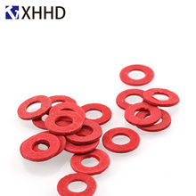 Red Washer Insulation Steel Paper Meson Insulating Flat Spacer Gasket Ring M2 M2.5 M3 M4 M5 M6 M8
