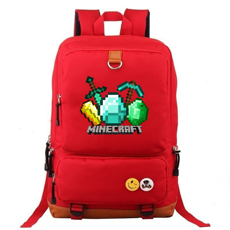 Games MineCraft TNT Like A Boss Boy Girl School Bag Teenager Mochials Teenagers Patchwork Canvas Men Student Laptop Backpack