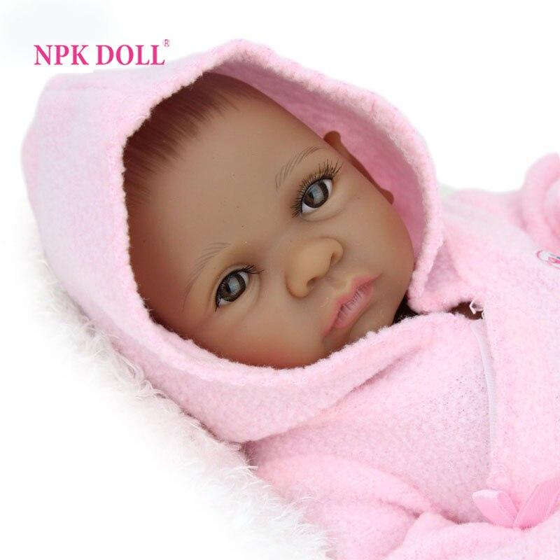 Npkdoll 10 Inch 25 Cm Mini Baby Reborn African American -2690
