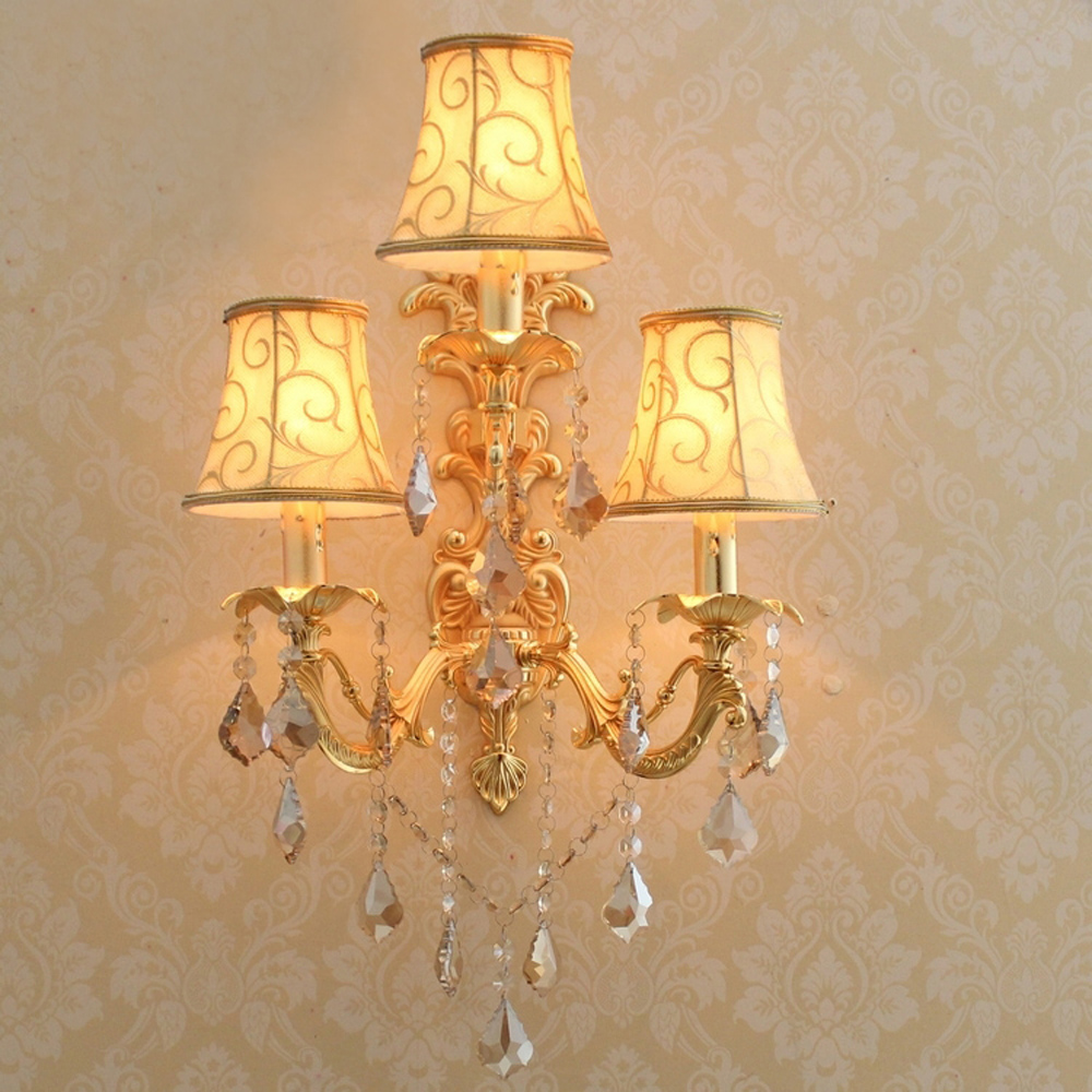 Led Lamps Lights & Lighting Creative European Retro Villa Wall Lamp Living Room Background Wall American French Style Antique Staircase Ceramic Bedroom Bedside Lamp Lustrous Surface
