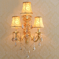 Goud Wandlamp Vintage Slaapkamer Wandlampen met led Opbouwarmatuur Decoratieve Wandkandelaars Woonkamer Wandlampen-in LED Indoor Wandlampen van Licht & verlichting op
