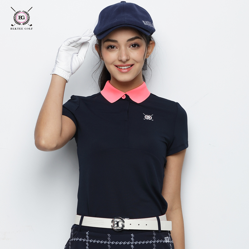 2018 Hot Selling New Breathable Golf Polo Shirt Women Short Sleeved Quick Dry T - shirt Ladies Summer Sports Jersey Dressing everio summer golf t shirt short sleeve polo shirt quick dry breathable golf wear 5colors