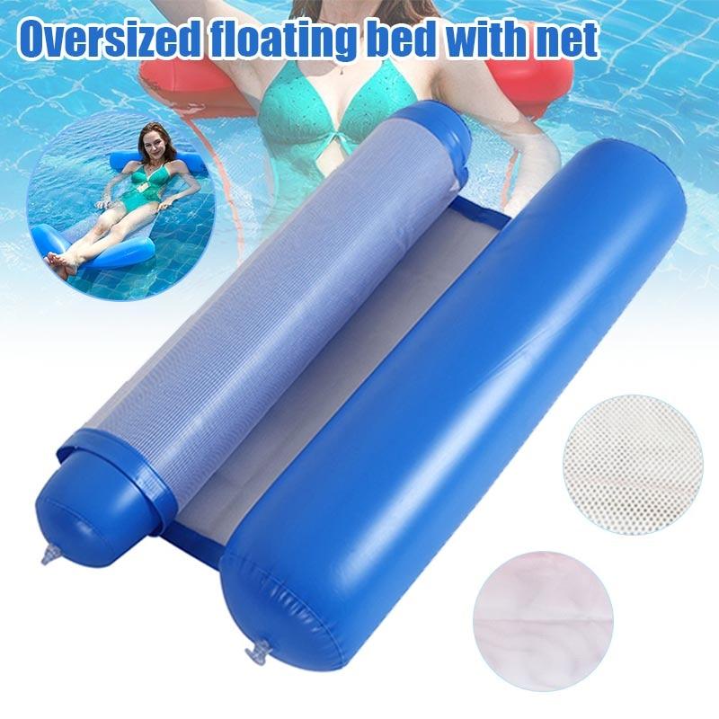 Горячий складной гамак воды одиночные люди надувной спинки пляжный шезлонг плавательный бассейн HV99