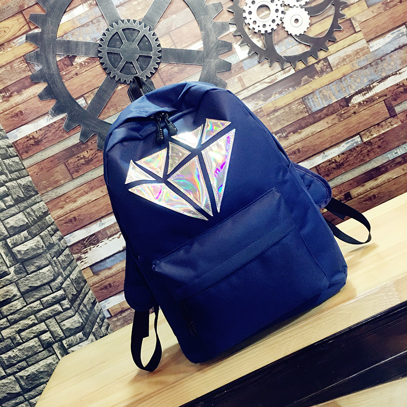 Женщины Холст Рюкзак мешок школы для девочки средней школы дух колледжа геометрические Лазерная подростков bookbags летом сумка женская 2018