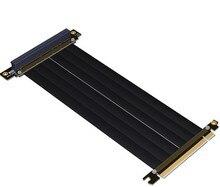 Gen3.0 PCI-E 16x к 16x Riser Extender Cable видеокарты PCIe x16 локоть дизайн индивидуальные gtx 1080TI FULL SPEED COOL мастер