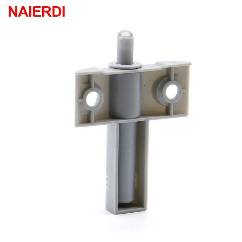 NAIERDI Высокое качество 1 компл./лот серый для кухонного шкафа дверной стоп ящик мягкий тихий близкий доводчик буферы с винтами