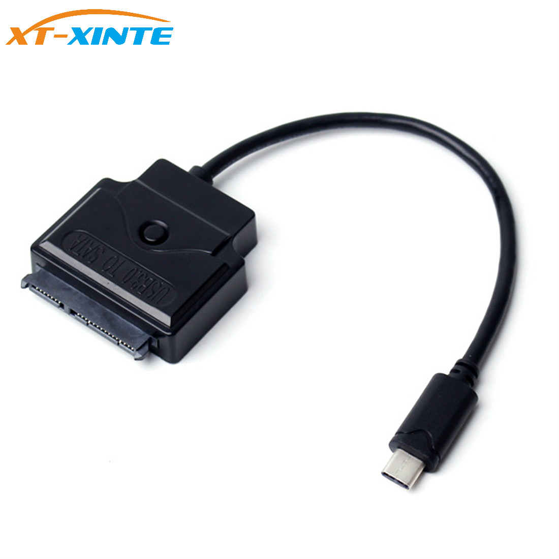 Type-C USB 3.1 Connector to SATA 22 Pin HDD SATA 2.5 3.5 SSD Hard Disk Drive External HDD Converter Cable Support DC 12V Power usb 3 1 type c usb c male to sata 22 pin 2 5 hard disk driver ssd support otg function adapter cable 20cm for macbook