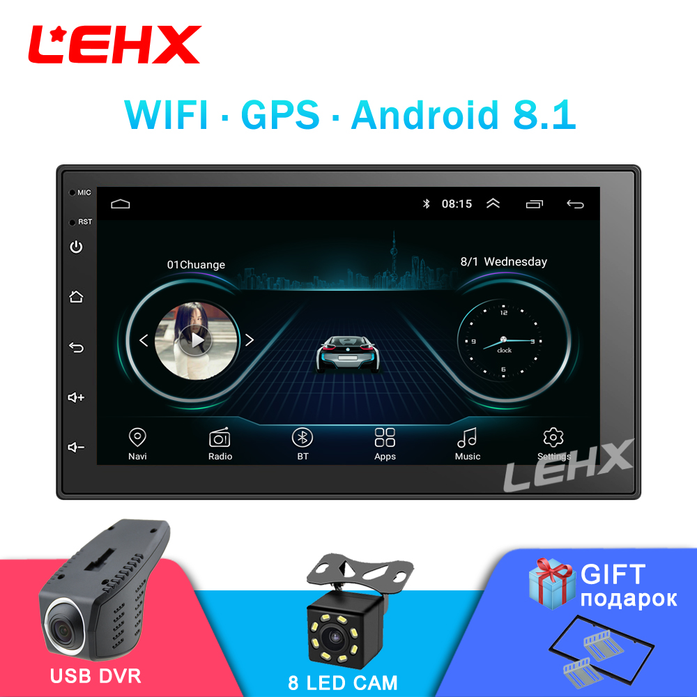 Stereo GPS Multimedia-Player Autoradio Android8.1 2 Din Navigation Bluetooth Car Touch