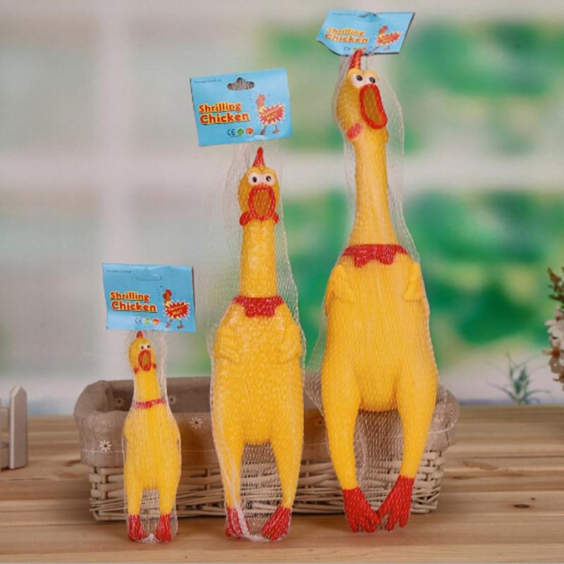 ⃝3pcs Lot 17 31 41cm Yellow Plastic Shrilling ① Chicken