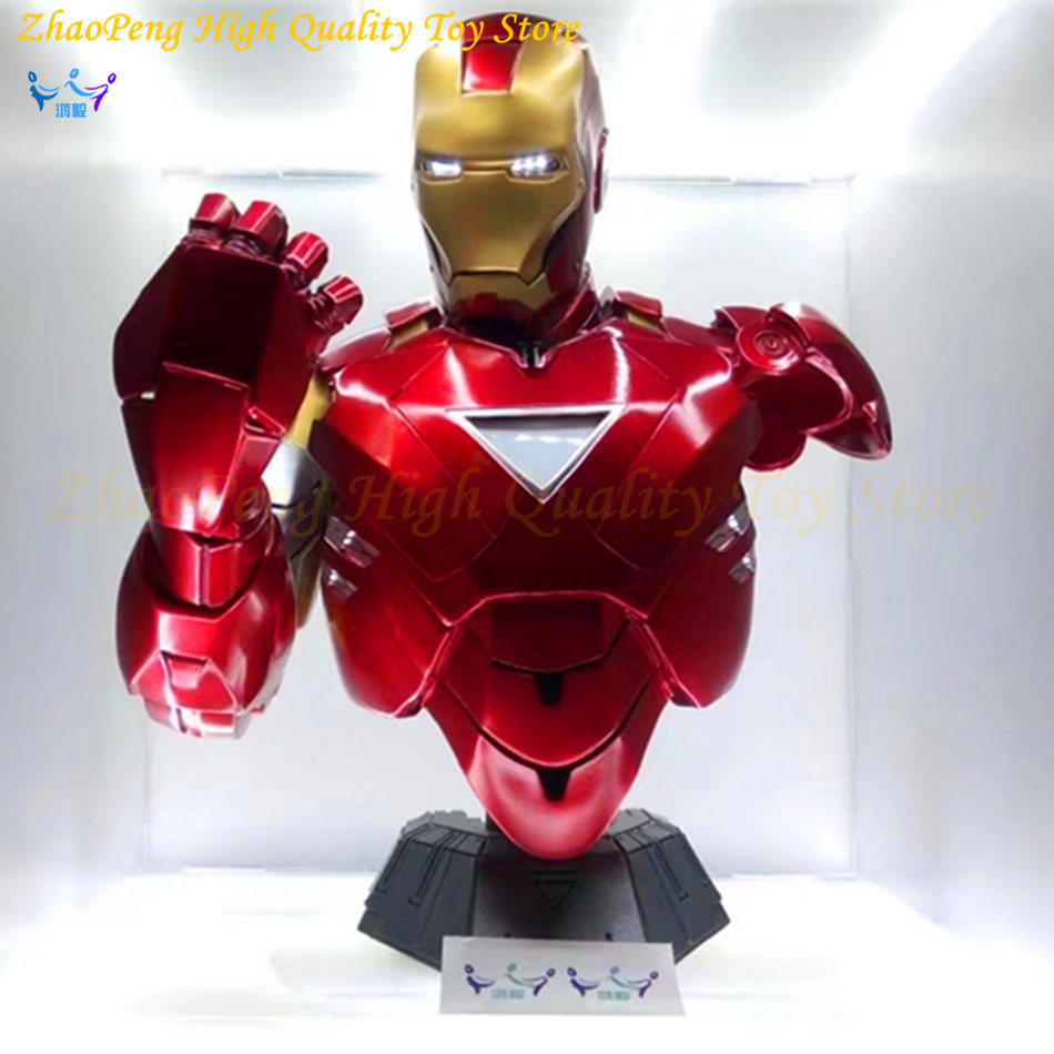 free iron man 1/2 40cm MK6 bust figure anime resin statue iron-man kit  action figure Collection Decoration good gift for man man kung mk cb50