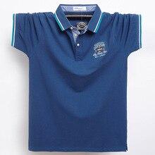 Polo-Shirt Short-Sleeve Blue Black Plus-Size Casual Men Fashion Summer 95%Cotton New