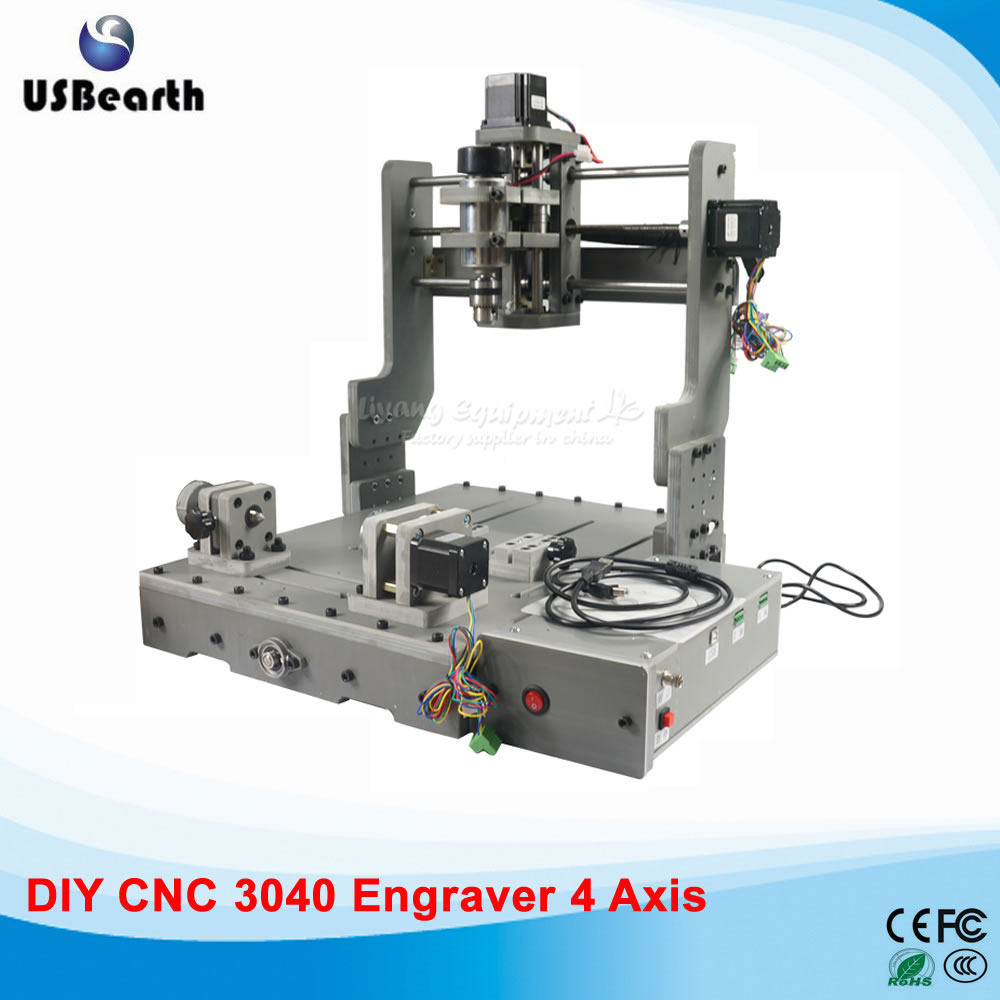 3D CNC machine 3040 Mini Wood Router 300W CNC Mililng Machine, free tax to EU countries eur free tax cnc 6040z frame of engraving and milling machine for diy cnc router
