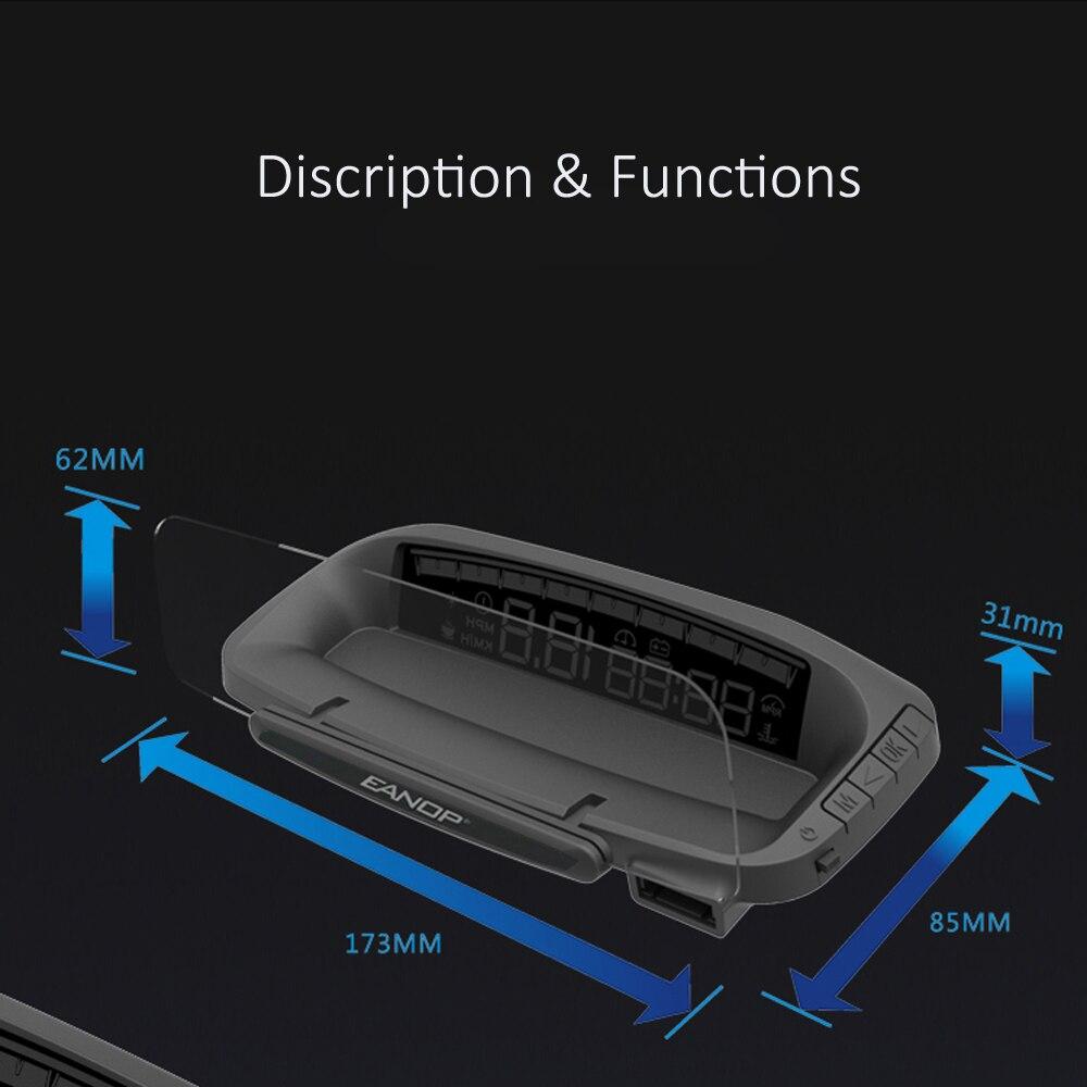 EANOP HUD M40 автомобилей Head-up display Скорость проектор hud-проектор на борту бортовой компьютер OBD II диагностика автомобиля Скорость ometer