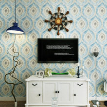 Vintage Mediterranean Style Art Wallpaper Modern Bedroom Living Room TV Background Entrance Roll