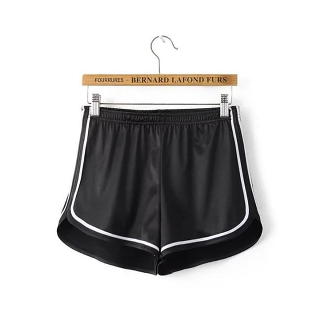 HTB1Ynw2MVXXXXbaXpXXq6xXFXXXG - Glossy Shorts Slim Sexy Short Cotton Elastic High Waist Shorts For Women PTC 181