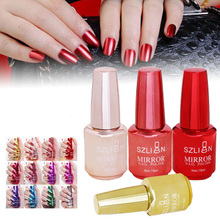 New Metallic Mirror Nail Polish Magic Effect Chrome Art Varnish Exquisite Gel Decor Tool