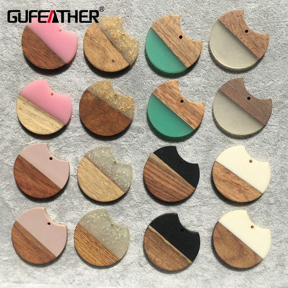 GUFEATHER M272,nature Wood Acrylic Earrings,jewelry Findings,charms,diy Pendant Jewelry,hand Made,earrings Accessories