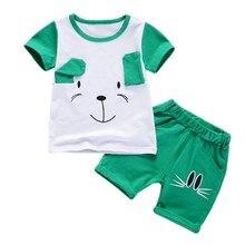 Sommer-kühle Baby-Jungen-Mädchen-Kleidungs-gesetzte Säuglingskinderkarikatur-T-Shirt + Shorts 2PCS passt neugeborene Art- und WeiseTrautesuit H1 an