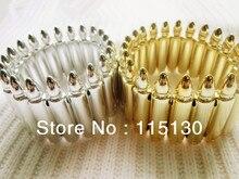 El último estilo Rock Punk Stretch bala brazaletes de la pulsera de resina del remache del punto Cuff Bangles moda joyería de la bala accesorios venta al por mayor