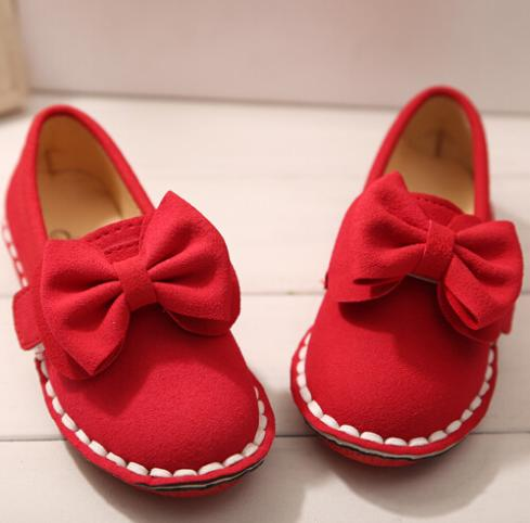 fashion style children shoes girls shoes cute bowknot princess single shoes  new style children flat shoes