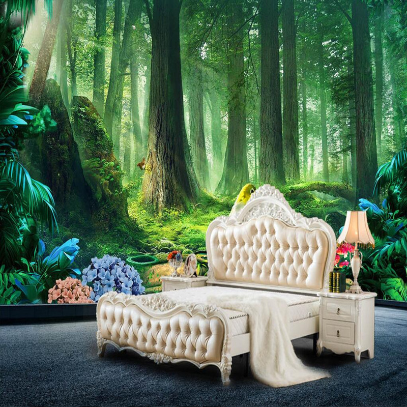 Custom 3D Wall Murals Nature Wall Sticker 3D Room Wallpaper Landscape Green Tree TV Wall Murals Nature Scenery 3D Wallpaper Roll custom photo 3d ceiling murals wallpaper european mythological figure angelic painting 3d wall murals wallpaper for walls 3 d