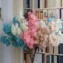 Artificial flower Cherry blossom (100cm) dense 2017 NEW!! (20pcs/lot) Home/wedding Decoration flowers 4 Colors Available