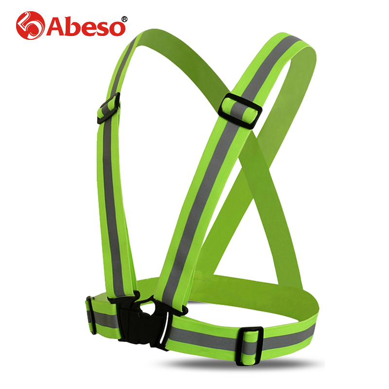 Abeso High Visibility Unisex Outdoor Safety Vest Reflective Belt Safety Vest Fit For Running Cycling Sports Outdoor ClothesA1101